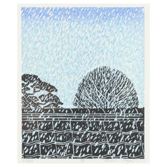 a-contemporary-japanese-woodblock-print-of-snow