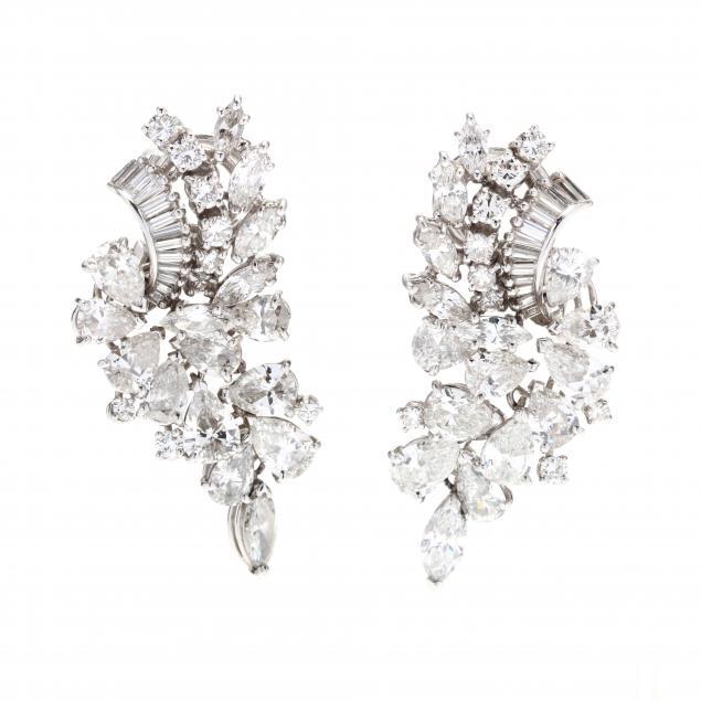 platinum-and-diamond-earrings