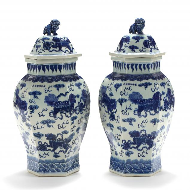 a-pair-of-large-chinese-porcelain-blue-and-white-covered-temple-jars