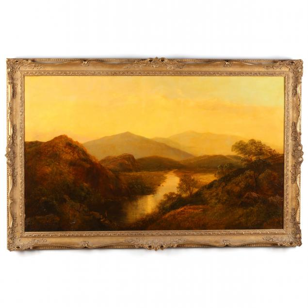 english-landscape-of-a-river-valley-at-sunset