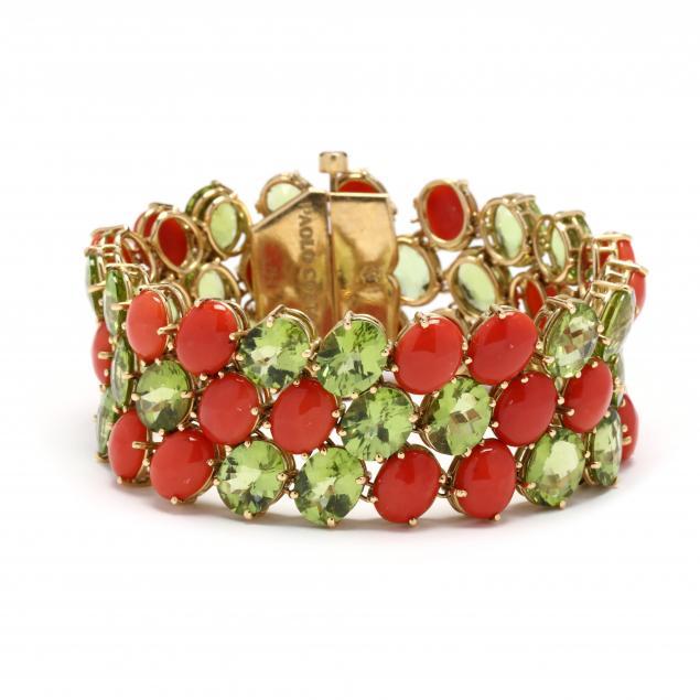 coral-and-peridot-bracelet-paolo-costagli