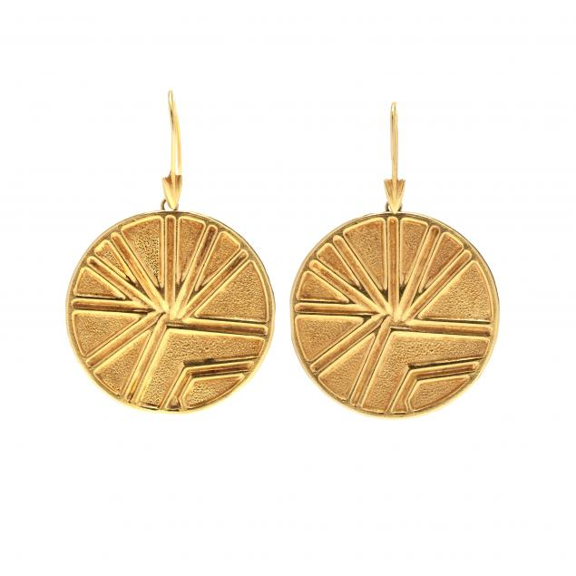 gold-disc-earrings-lalaounis