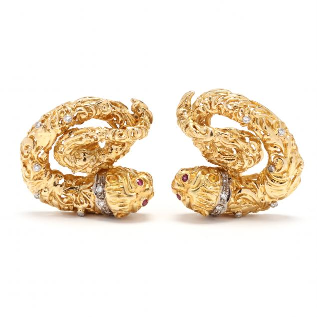 18kt-gold-and-gem-set-earrings-lalaounis