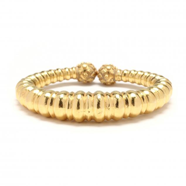 22kt-gold-bangle-cuff-bracelet-lalaounis