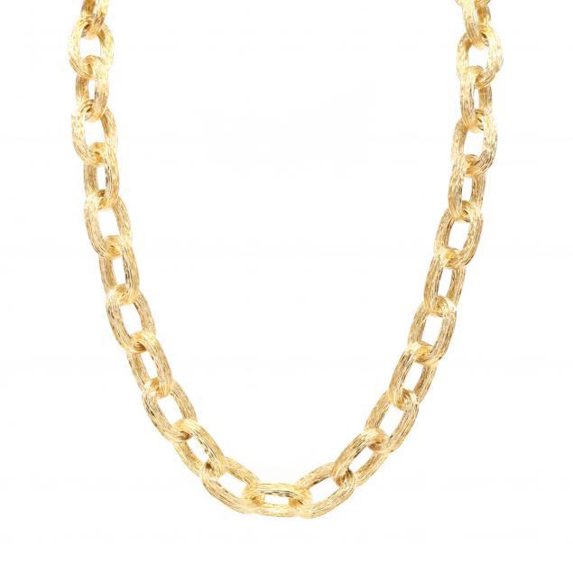 vintage-18kt-gold-link-necklace-tiffany-co