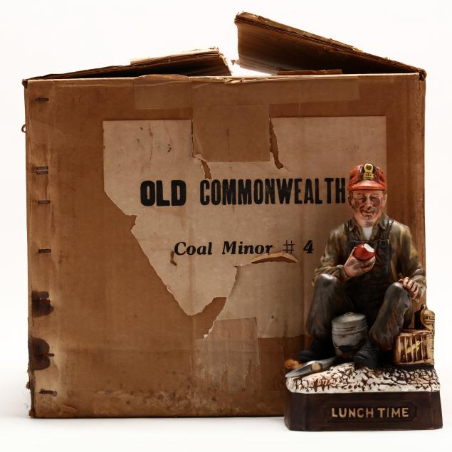 old-commonwealth-bourbon-whiskey-in-coal-miner-decanters