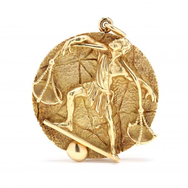 vintage-18kt-gold-libra-zodiac-pendant-tiffany-co