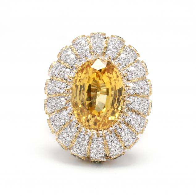 bi-color-18kt-gold-yellow-sapphire-and-diamond-cocktail-ring-buccellati