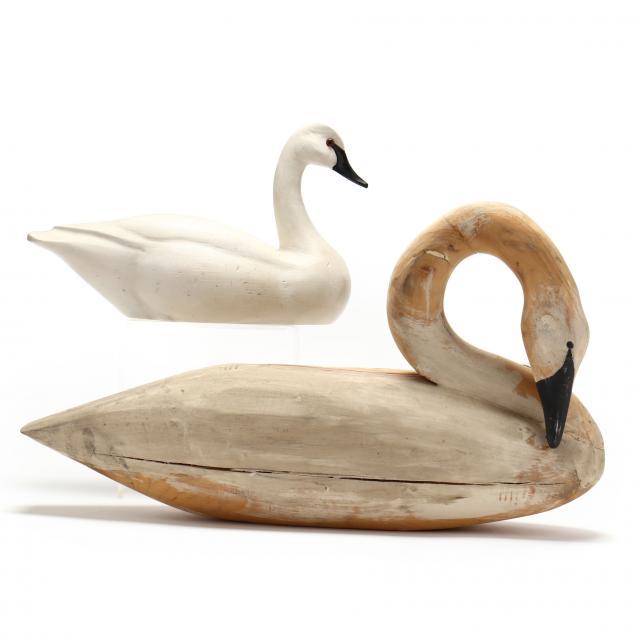 two-swan-decoys