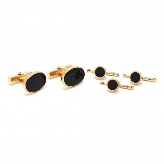 18kt-gold-and-onyx-gent-s-set-tiffany-co