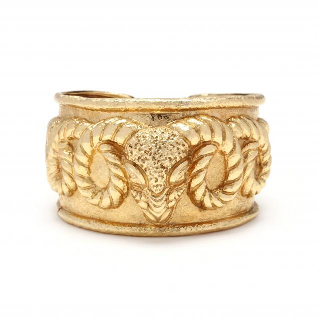 18kt-gold-ram-s-head-cuff-bracelet-david-webb