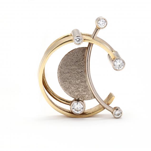 modernist-bi-color-gold-and-diamond-pendant-jewelsmith