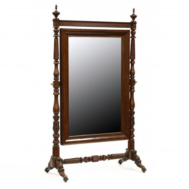 william-iv-carved-mahogany-cheval-mirror