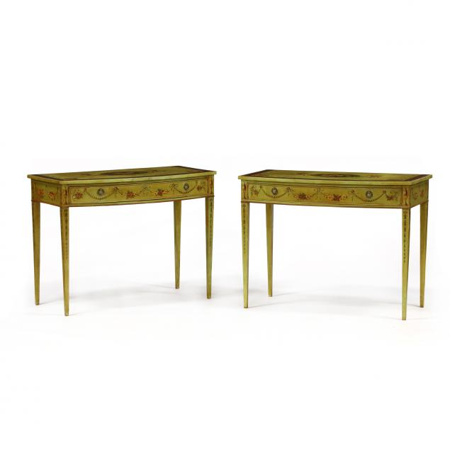 pair-of-adams-style-paint-decorated-console-tables
