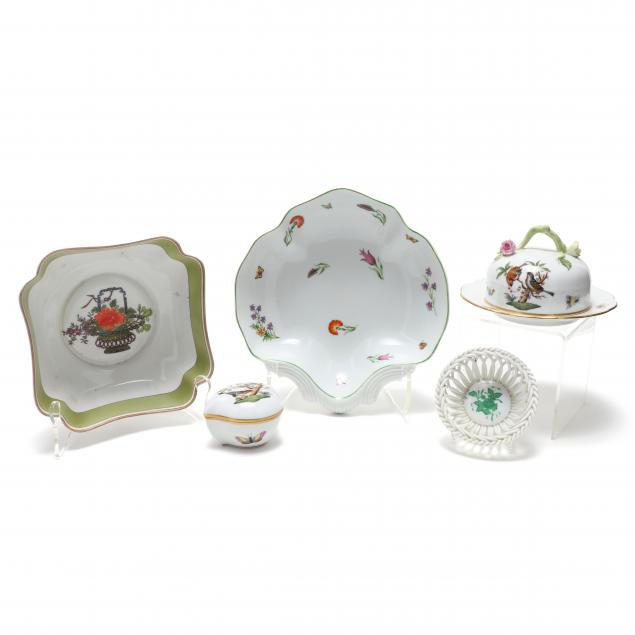group-of-herend-tiffany-and-vista-allegre-porcelain