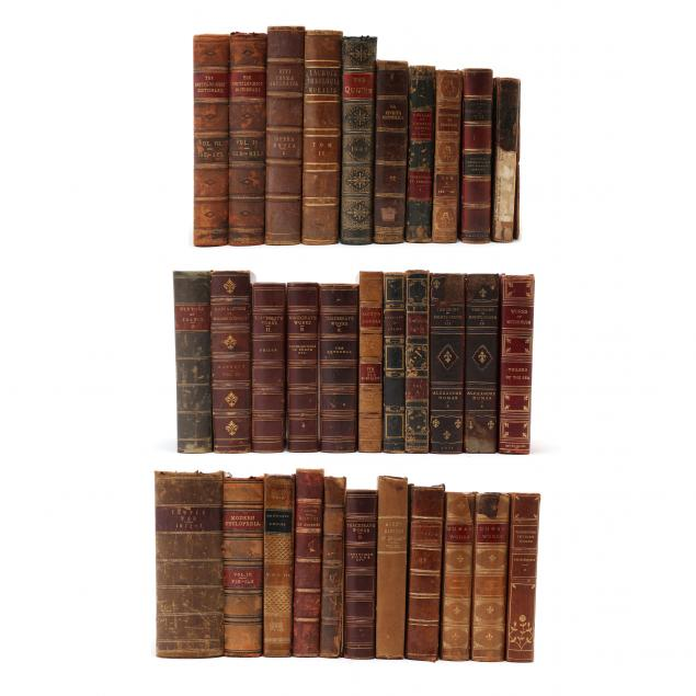 group-of-32-antique-leatherbound-books