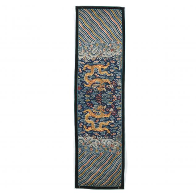 a-chinese-silk-embroidered-dragon-and-wave-panel