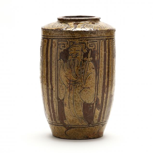 a-chinese-earthenware-pottery-vase-with-immortals