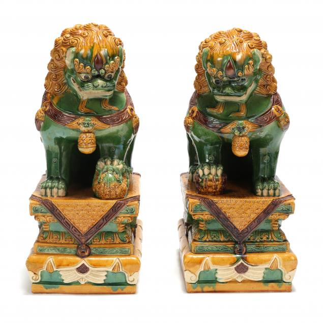a-pair-of-large-chinese-glazed-foo-lions