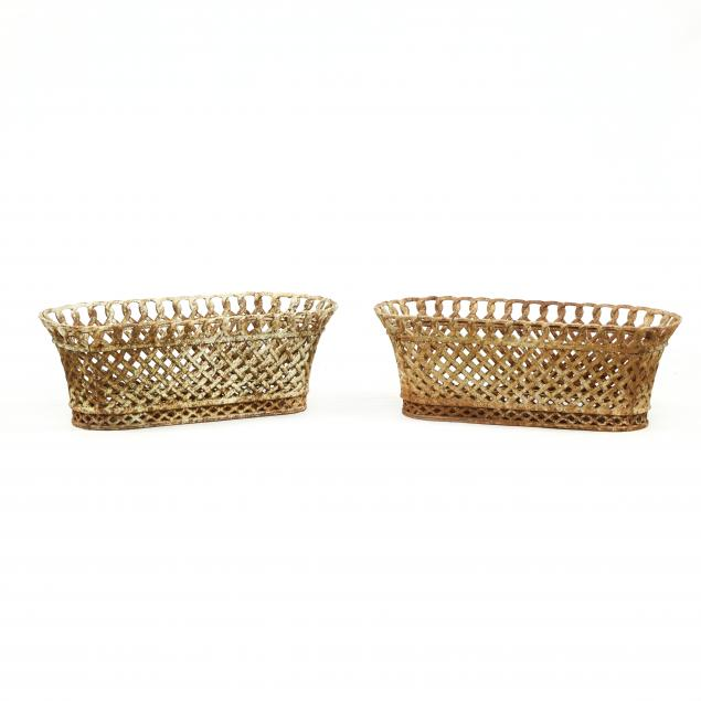pair-of-basket-form-cast-iron-garden-planters