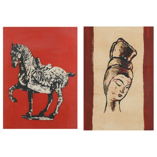 two-batik-paintings-of-chinese-tang-dynasty-figures