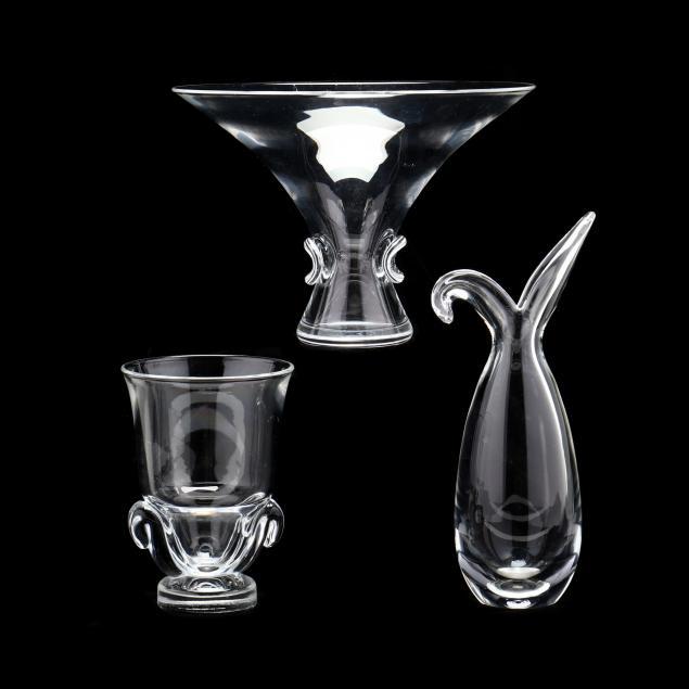 steuben-three-pieces-of-modern-crystal
