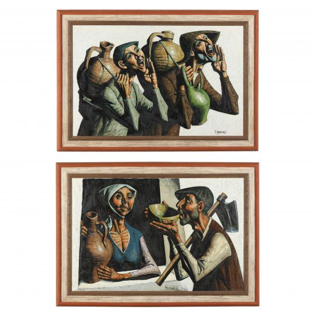 jesus-villar-martinez-spanish-b-1930-two-paintings-of-spanish-peasants