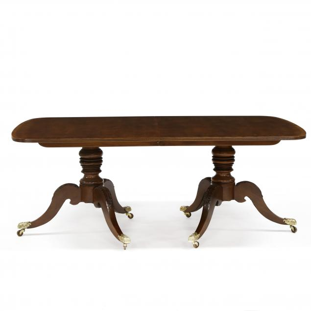 henredon-federal-style-carved-and-inlaid-mahogany-double-pedestal-dining-table