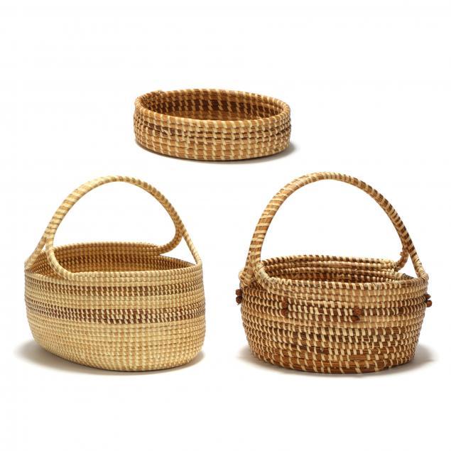 three-charleston-sweetgrass-baskets-dorothy-washington