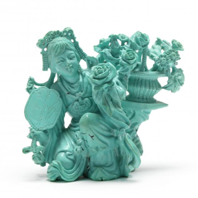 a-chinese-turquoise-carving-of-lady-with-flower-basket