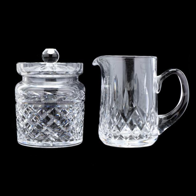 waterford-i-lismore-i-pitcher-and-i-glandore-i-lidded-jar