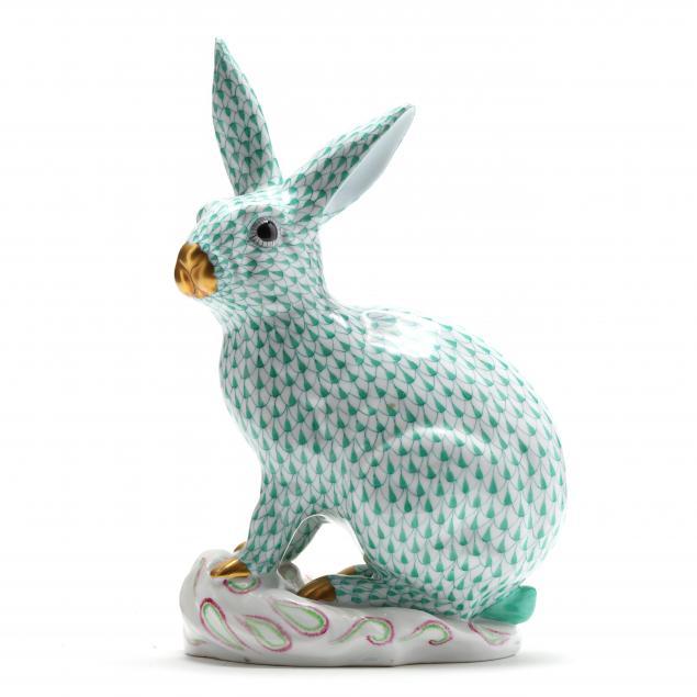 large-herend-porcelain-rabbit-5334