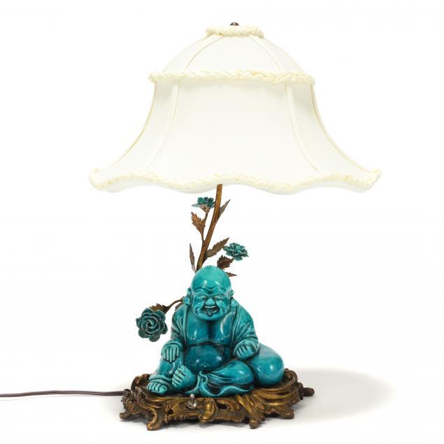 ormolu-mounted-turquoise-glazed-buddha-table-lamp
