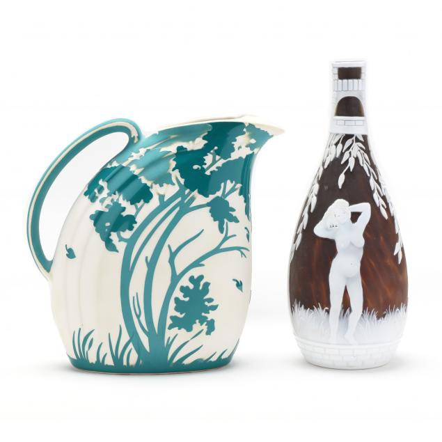 kelsey-murphy-cameo-glass-vase-and-ceramic-pitcher