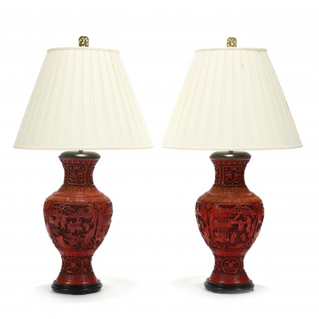 a-pair-of-cinnabar-lacquer-style-vase-lamps
