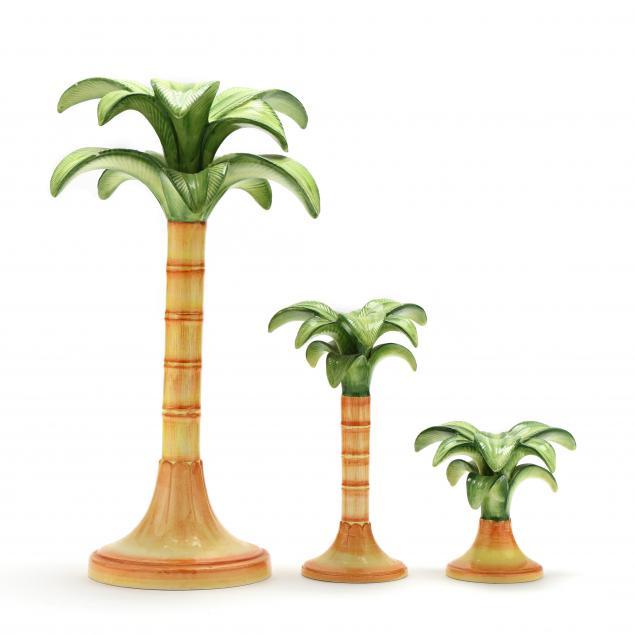 three-vietri-palm-tree-candlesticks