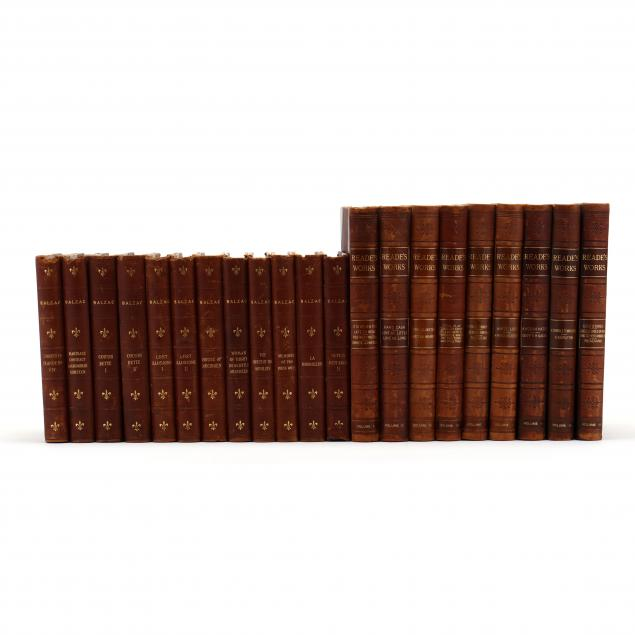 a-set-of-novels-by-charles-reade-and-a-set-of-novels-by-honore-balzac