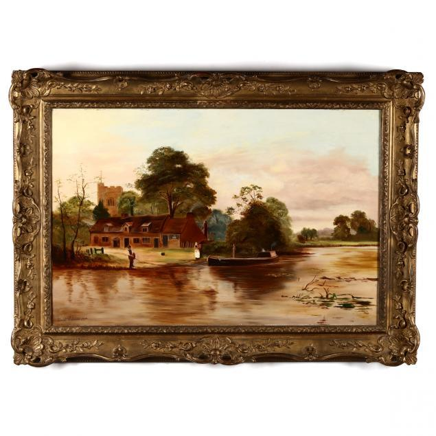 ernest-walbourn-english-1872-1927-lake-scene-with-figures