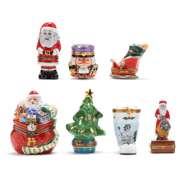 seven-limoges-trinket-boxes-relating-to-christmas