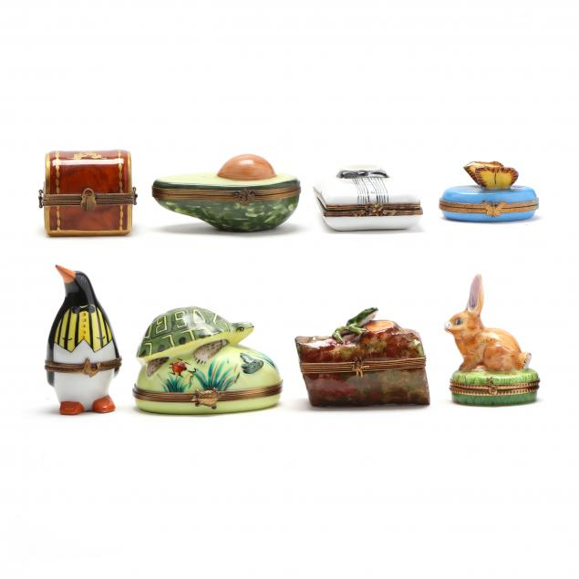 group-of-eight-limoges-trinket-boxes