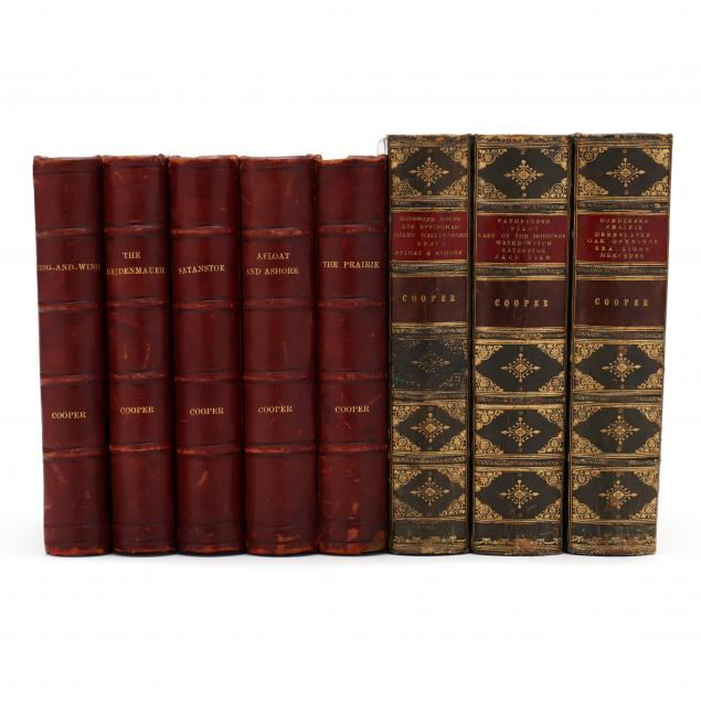 antique-leatherbound-books-by-james-fenimore-cooper