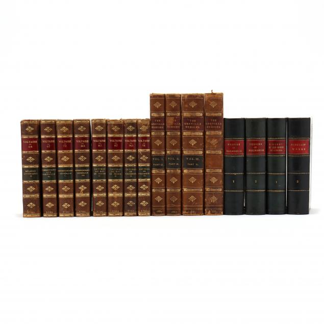 three-partial-book-sets-consisting-of-sixteen-antique-leatherbound-volumes