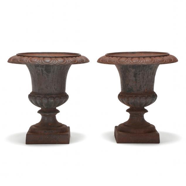 pair-of-small-cast-iron-garden-urns