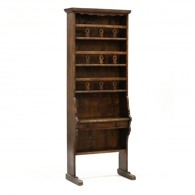 welsh-style-diminutive-oak-pewter-cabinet