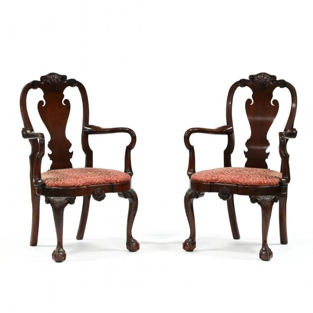 kindel-pair-of-irish-queen-anne-style-armchairs