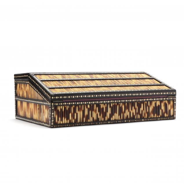 antique-anglo-indian-porcupine-quill-lap-desk