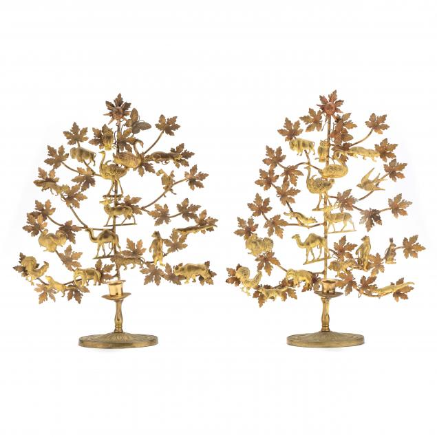 pair-of-brass-tree-of-life-candle-holders