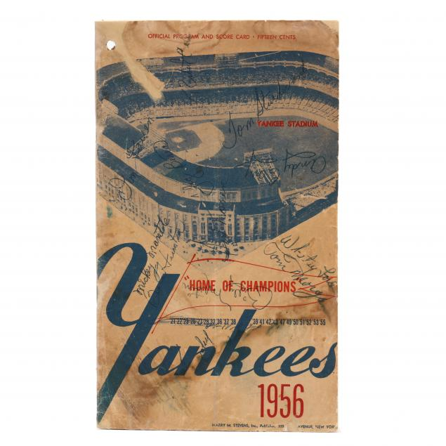 rare-signed-1956-new-york-yankees-official-program-and-score-card