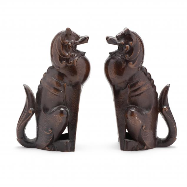 a-pair-of-art-deco-style-painted-iron-shishi-lions