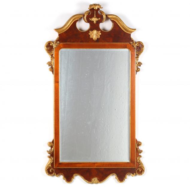 labarge-italian-carved-and-gilt-mahogany-mirror